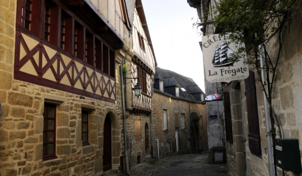 Winding cobbled streets